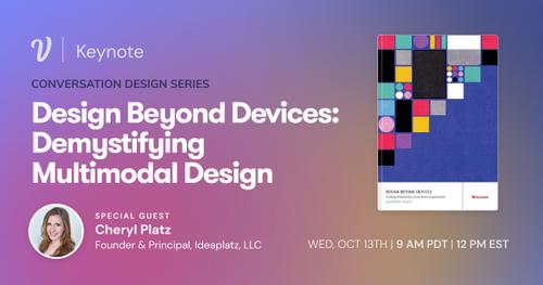 Voiceflow Keynote: Demystifying Multimodal Design